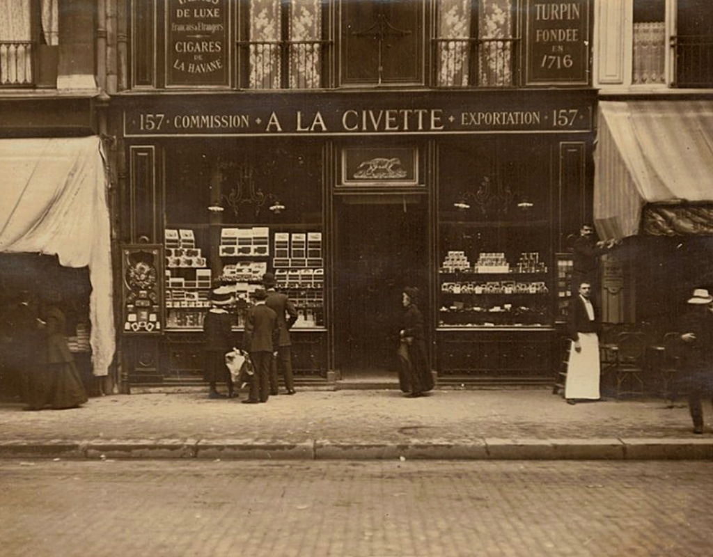 A French storefront in the early 1900s.